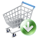 Arrow, Cart, Down, Ecommerce, Shopping, Webshop Icon
