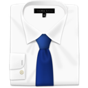 Blue, Shirt, Tie Icon