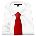 Red, Shirt, Tie Icon