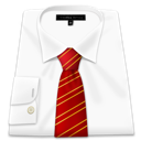Clothing, Red, Shirt, Tie Icon
