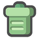 Bin, Can, Empty, Recycle, Trash Icon