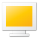 Monitor, Yellow Icon
