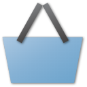 Basket, Blue, Shopping Icon