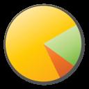 Chart, Pie, Yellow Icon