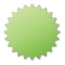 Green, Label Icon