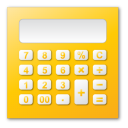 Calculator, Yellow Icon