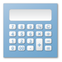 Blue, Calculator Icon