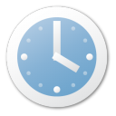 Blue, Clock Icon