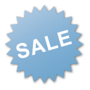 Blue, Label, Sale Icon