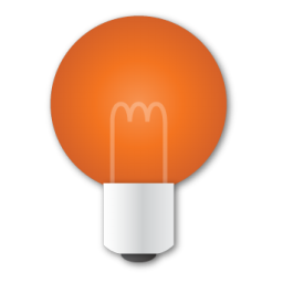 Bulb, Red Icon