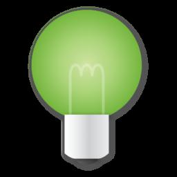 Bulb, Green Icon