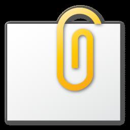 Attachment, Yellow Icon