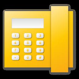Telephone, Yellow Icon