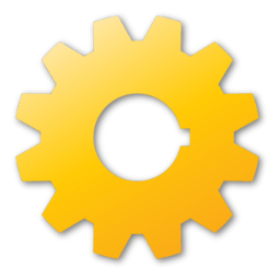 Gear, Yellow Icon