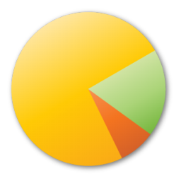 Chart, Pie, Yellow Icon