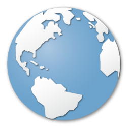 Blue, Earth, Globe, Internet, World Icon