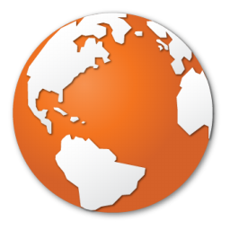Earth Globe Internet Orange World Icon Download Free Icons