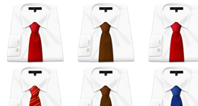 Shirt and Tie Icons