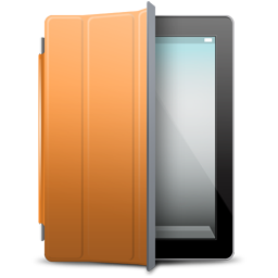 Black, Cover, Ipad, Orange Icon