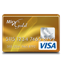 Gift, Gold, Visa Icon