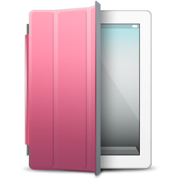 Cover, Ipad, Pink, White Icon