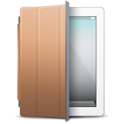 Brown, Cover, Ipad, White Icon