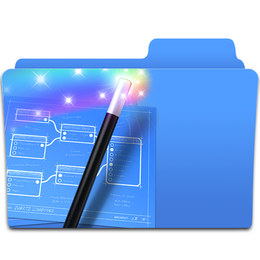 Composer, Folder, Magic, Quartz Icon