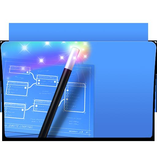 Composer, Folder, Magic, Quartz Icon