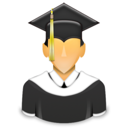 Graduated Learner Student University Icon Download Free Icons