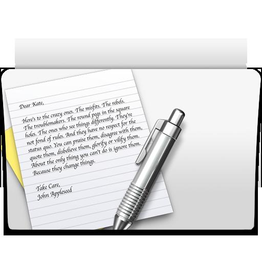 Folder, Textedit Icon