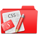 Css, Design, Edit, Folder, Red, Web Icon