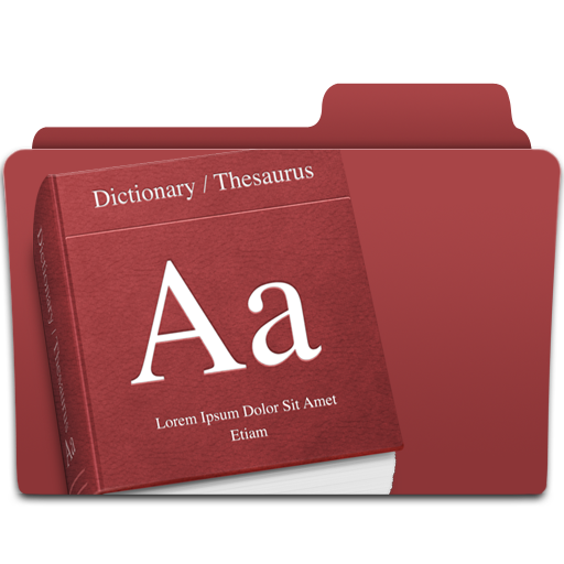 Dictionary, Folder Icon