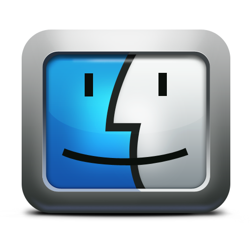 Apple, Face, Finder, Mac, Mettalic, Os, x Icon