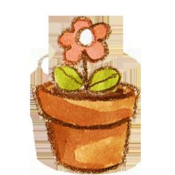 Flower, Pot Icon