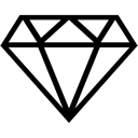 Diamond, Gem, Ruby Icon