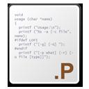 p, Source Icon