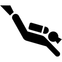 Diver, Diving, Scuba Icon
