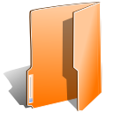 Close, Folder, Open, Orange Icon