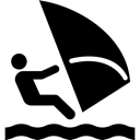 Sail, Surf, Surfer Icon
