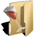 Alcohol, Folder, Wine Icon