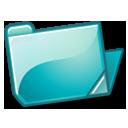 Cyan, Folder, Open Icon
