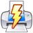 Lightning, Power, Print, Quick Icon
