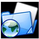Blue, Folder, Folders, Html Icon