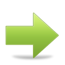 Arrow, Forward, Green, Next, Right Icon
