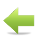 Arrow, Back, Green, Left Icon