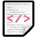 Text, Xml Icon