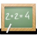 2+2=, Blackboard, Calculate, Education, Math, School Icon