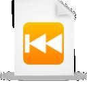 Document, File, g, Orange, Paper, Rewind Icon