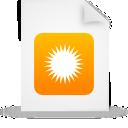 Document, File, g, Orange, Paper Icon