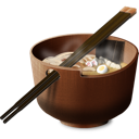 Asian, Bowl, Breakfast, China, Chinese, Chopsticks, Dinner, Food, Japan, Japanese, Lunch, Meal, Oriental, Soup Icon